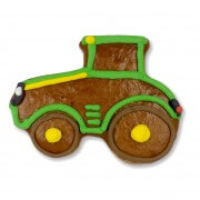 Gingerbread farmer tractor, 18cm individual - optional with logo