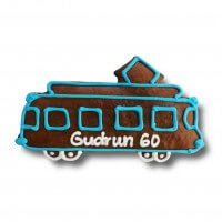 Gingerbread tram individual, 24cm - optional with logo