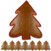 XXL Gingerbread pinetree blank with border, 43 cm
