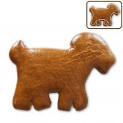 Goat gingerbread for self-decorating, 12cm