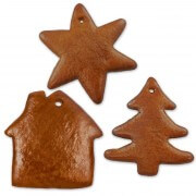 Gingerbred blank set, each 5x star, tree and house