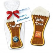 Gingerbread in white beer form 22cm - In cellophane with logo and advertising card