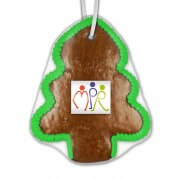 Gingerbread Christmas tree 15cm - incl. label