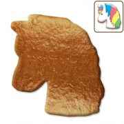 Gingerbread blank unicorn blank, 12 cm