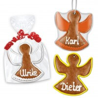 Angel place card made of gingerbread, 12cm