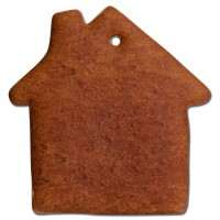 Gingerbread house blank, 15cm