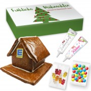 Gingerbread house L to make yourself with accessories - in printed advertising cardboard - maxi letter format
