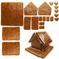 gingerbread house - kit - size L