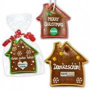 Gingerbread House flat, individual 15cm