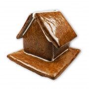 Gingerbread house for personalizing, size L