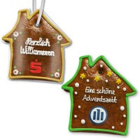 Gingerbread houses flat, customized 25cm