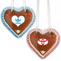 Gingerbread Hearts, 12cm with customized label