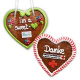 Gingerbread Hearts, 12cm - optional with Logo