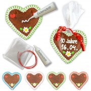 Gingerbread heart 12cm self-labeling set