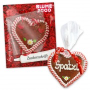 Mini gingerbread heart, Do-It-Yourself kit with individual card