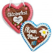 Gingerbread Hearts, 16cm - optional with Logo