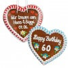 Gingerbread Heart individual,  18cm