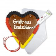 Lebkuchen heart Do-It-Yourself kit in germany flag colors