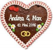 Lebkuchenherz individuell - Give-Away, 24cm