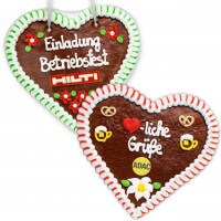 Gingerbread Hearts, 24 cm - optional with Logo