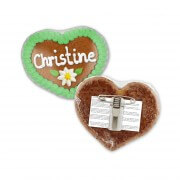 Gingerbread Heart Button Badge individual - 8cm