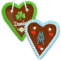Gingerbread Heart 18cm - With printed frosting logo