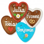 Individual Gingerbread Hearts, 10cm