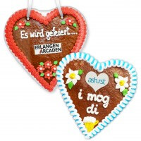 Gingerbread Hearts, 21cm - optional with Logo