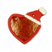 Gingerbread heart blank with santa cap 16cm