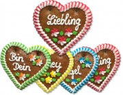 Gingerbread Heart Mixed Box - 12cm - various phrases
