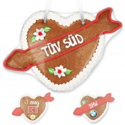 Gingerbreadheart with arrow, optional with logo