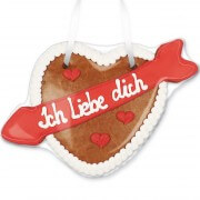 Gingerbreadheart with arrow - Ich liebe dich  22cm