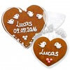 Gingerbread heart with Name - lucas