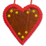 Blank Gingerbread Heart 21 cm with Christmas Decoration