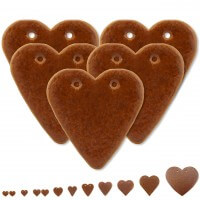 Blank Lebkuchen Hearts, 25 pieces