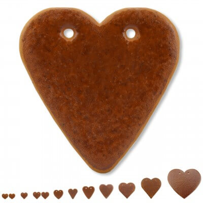 Blank Gingerbread Heart, variouse sizes