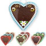 Blank Gingerbread Heart 21 cm with Decoration