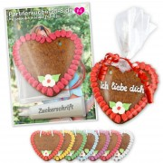 Gingerbread heart DIY set 14cm incl. rack card