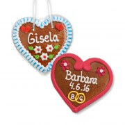 Lebkuchen Heart Place Card, 12cm