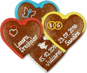 Place card heart made of gingerbread, 12cm