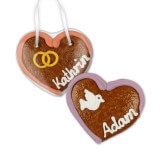 Place card heart made of gingerbread, 8cm