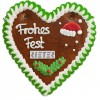 Christmas Gingerbread Heart individual, 16cm