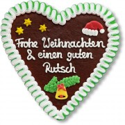Christmas Gingerbread Heart individual, 21cm