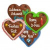 Christmas Gingerbread Heart individual, 12cm