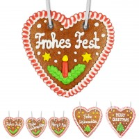 Gingerbread heart, christmas