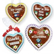 Gingerbread Hearts, 18cm - optional with Logo