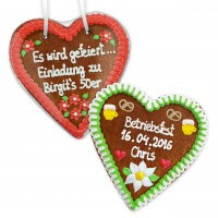Gingerbread Heart customized, 21cm