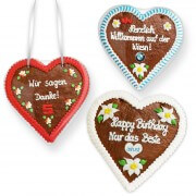 Gingerbread Hearts, 30cm - optional with Logo