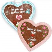 Gingerbread Hearts, XXL 50cm - optional with Logo