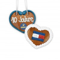 Gingerbread Hearts, 8cm - optional with Logo
